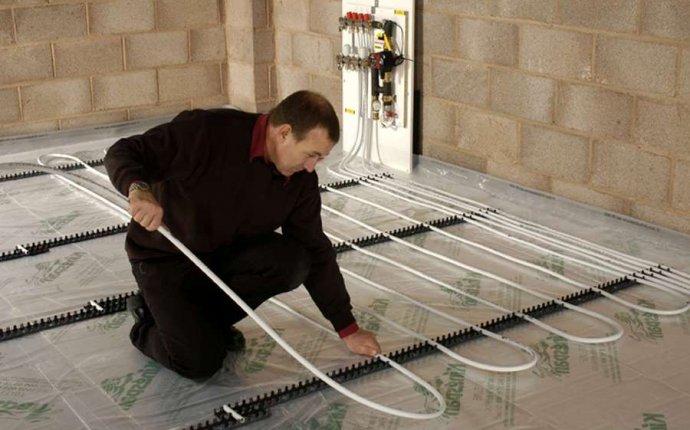 сделать водяное отопление в полу в частном доме